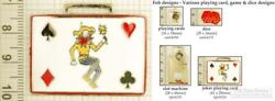 Cards, Dice And Gambling Decorative Fobs, Various Designs And Keychain Options