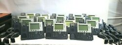 Lot Of 17 Cisco Ip Phones 7942 Cp7942g Tested And Reset Free Shipping Eb560