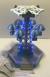 Lemax Snowflake Paradrop 2013 Carnival Fair Animated Lights Sounds Rare Works