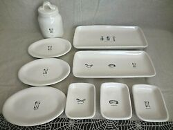 Rae Dunn Icon Home Cooking Serving Platters Utensil Appetizer Plates Canister