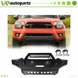 Full Width Front Bumper For Toyota Tacoma 2005-2015 Winching And D-ring Options