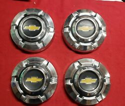 69 74 Chevy C10 1/2 Ton Dog Dish Hubcaps Set Of Four Chrome 10.5 Inch