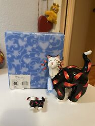 Whimsiclay By Amy Lacombe Chilli Pepper Cat Figurine And Pin