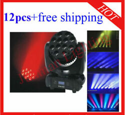 1210w Rgbw 4 In 1 Led Beam Moving Head Light Dj Stage Light 12pcs Free Shipping