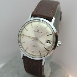 Vintage Unichron By Holmar Menand039s Manual Winding Watch Fhf 72-4n Swiss Made 1950s