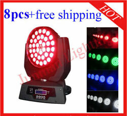 3610w Rgbw 4 In 1 Led Zoom Moving Head Light Wash Lighting 8pcs Free Shipping