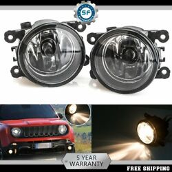 For 2015-2018 Jeep Renegade Fog Light Driving Lamp W/light Bulbs Clear Lens Pair