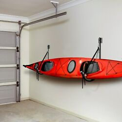 Great Working Tools Kayak Rack Wall Mounted Fold Flat Design 200 Lbs. Capacity