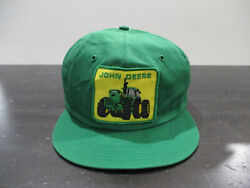 Vintage John Deere Hat Cap Snap Back Green Yellow Tractor K Products K Brand 90s