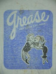 Vintage 70s Grease The Musical Promo T Shirt Before The Movie Mens L Thrashed