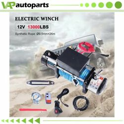 1x Electric Winch 13000lb Synthetic Rope 12v Truck Trailer For Toyota 1958-1992