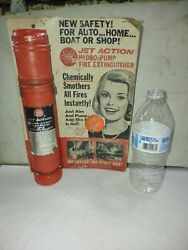 1966 Fedtro Jet Action Hydro Pump Fire Extinguisher Nos Vintage Safety Boat Car