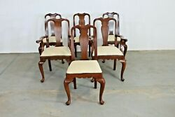 Set Of 6 Solid Cherry Henkle Harris Dining Chairs