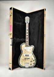 2015 Eastwood Airline Tuxedo Pearl Electric Guitar W/ohsc