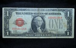 1928 1 United States Notes ✪ Vf Very Fine ✪ Red Seal Scarce Note L@@k ◢trusted◣