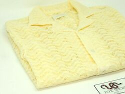 Aime Leon Dore Ald Rico Afterglow Yellow Woven Collared Shirt - Size Xs - New