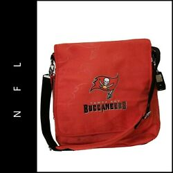 NFL Tampa Bay Buccaneers The Coach Messenger Diaper Bag Red Nwt $39.00