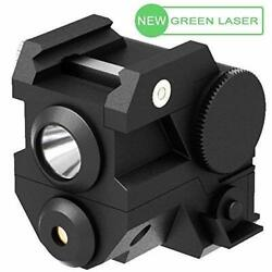 Laspur Mini Tactical Sub Compact Rail Mount Green Laser Sight With High Lumen