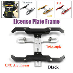 1andtimes Retractable Motorcycle Rear Tail License Plate Holder Frame Tag Mount Bracket