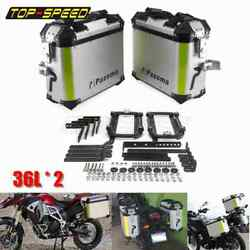 Aluminum Motorcycle Trunk Left Right Side Box Luggage Pannier Cargo Tool Box 36l