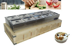 Commercial Food Warmer 10-pan Steamer Electricity Food Warmer Good After-sales