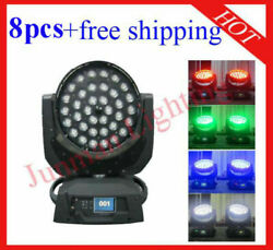 3610w Rgbw 4 In 1 Wireless Dmx Led Moving Head Zoom 8pcs Free Shipping