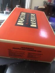 + Lionel 6-18304 Lackawanna Multiple-unit Powered And Dummy Commuter Cars Nib New