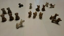 Lot Of 17 Miniature Dogs Vending Machine? Doll House Craft Use