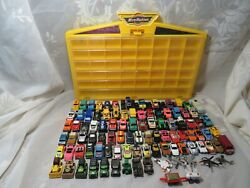 Huge Vintage Lot Galoob Micro Machines Road Champs Mini Vehicles And Carry Case