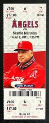 Mike Trout Mlb Debut Ticket Stub First Game Los Angeles Angels Anaheim 7/8 Rare