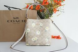 NWT Coach C3411 Small Town Bucket Bag In Signature Canvas With Daisy Print $378 $199.80