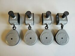 Bowflex Ultimate 2 And Others Slider Pulleys Lot Of 4