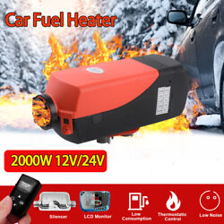 12v 2kw Car Air Diesel Heater Thermostat For Car Truck Boat Trailer Rv Remote