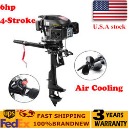 Hangkai 6hp 4stroke Outboard Motor Boat Engine W/air Cooling System 2500rpm