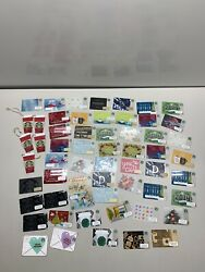 Collectable Starbucks No Value Mixed Lot Gift Cards Lot Of 59