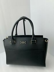 Kate Spade Grove Street Caley Black Leather Satchel Handbag $60.00