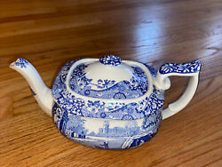 Spode Italian Blue And White Teapot C. 1816 U. Excellent Condition