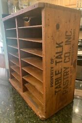Antique Table Top Pastry Co. Shipping Crate And General Store Display Worcester Ma