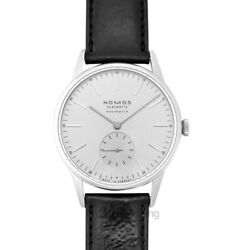 Nomos Glashuette Orion 341 White Silver-plated Dial Menand039s Watch Genuine