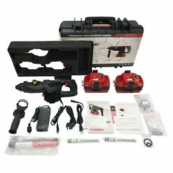 Nemo Underwater Cordless Sds Hammer Drill 164and039 2x 6ah Batteries W/tool Leash