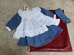 American Girl Samantha Play Dress amp; Pinafore Outfit missing socks New Retired $69.95