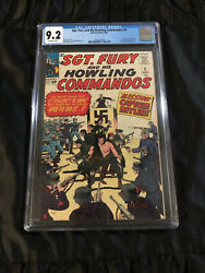 1963 Hitler In Marvel Comics Sgt. Fury And His Howling Commandos 9 Cgc 9.2 Nm