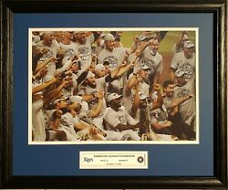 Tampa Bay Rays 2020 American League Champions Custom Framed Picture