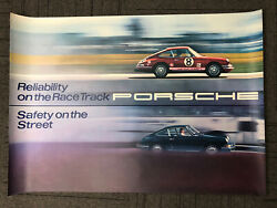 Original Vintage 1969 Porsche 911 Showroom Factory Posterandnbsp