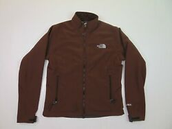 The North Face Women M Soft Shell Apex Jacket Wind Waterproof Fleece Lined Brown $27.99