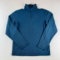 The North Face Fleece 1 4 Zip Jacket Navy Blue Mens Size Small $17.95