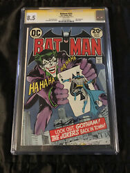 Batman 251 Cgc 8.5 White Pages 1973 Classic Neal Adams Cover Signed Neal Adams