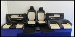 2015-2017 Ford Mustang Gt Oem Seats Panels Mats Front Back Leather 50th Year