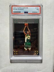 2007 Topps Chrome Kevin Durant Rookie 131 Psa 7 Nm Seattle Supersonics Rc Nets