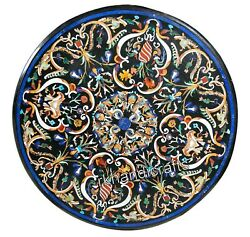 50 Inches Marble Hotel Table Top Hand Made Crafts Dining Table With Mosaic Art